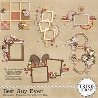 Best Guy Ever Digital Scrapbooking Clusters