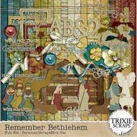 Remember Bethlehem Digital Scrapbooking Full Kit Christmas Holiday