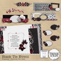 Black Tie Event Blogger Template Theme Wedding Formal Special Event