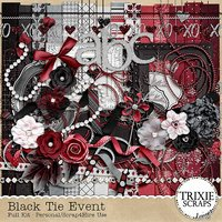 Black Tie Event Digital Scrapbooking Kit Wedding Formal Special Event