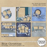 Blue Christmas Digital Scrapbooking Quickpages