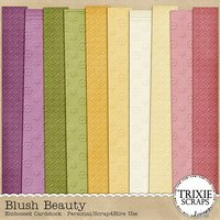 Blush Beauty Digital Scrapbooking Cardstock Everyday Flowers