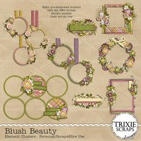 Blush Beauty Digital Scrapbooking Clusters Everyday Flowers