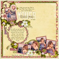 Blush Beauty Digital Scrapbooking Kit Everyday Flowers