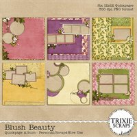 Blush Beauty Digital Scrapbooking Quickpages Everyday Flowers