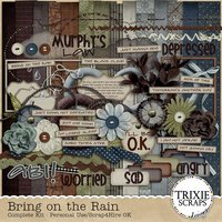Bring on the Rain Digital Scrapbooking Kit Heritage