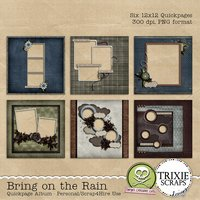 Bring on the Rain Digital Scrapbooking Quickpages