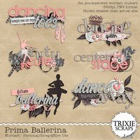 Prima Ballerina Digital Scrapbooking Wordart