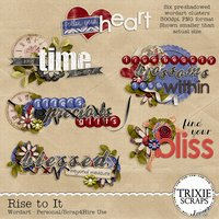 Rise to It Digital Scrapbooking Wordart