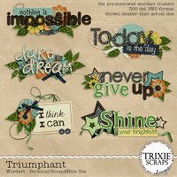 Triumphant Digital Scrapbooking Wordart