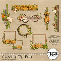 Carving Up Fun Digital Scrapbooking Element Clusters