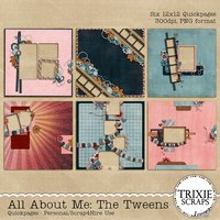 All About Me: The Tweens Digital Scrapbooking Quickpages