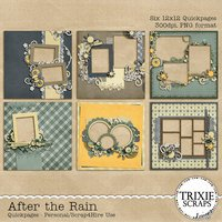 After the Rain Digital Scrapbooking Quickpages