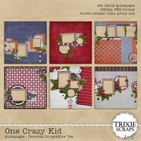 One Crazy Kid Digital Scrapbooking Quickpages