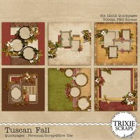 Tuscan Fall Digital Scrapbooking Quickpages