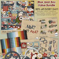 Blue Jean Boy Digital Scrapbooking Value Bundle