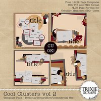 Cool Clusters vol 2 Digital Scrapbooking Templates PSD/TIF/PAGE