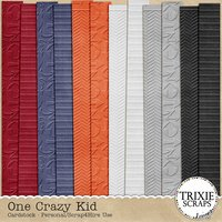 One Crazy Kid Digital Scrapbooking Embossed Cardstock