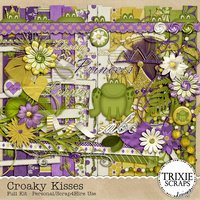 Croaky Kisses Digital Scrapbooking Kit Kid Fun Disney