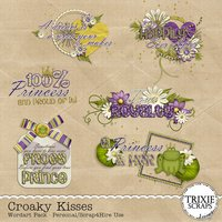 Croaky Kisses Digital Scrapbooking Wordart Disney