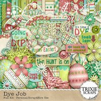 Dye Job Digital Scrapbooking Kit Easter