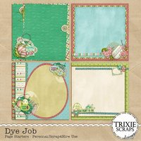 Dye Job Digital Scrapbooking Page Starters Easter