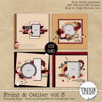 Front and Center vol 3 Digital Scrapbooking Templates PSD/TIF/PAGE