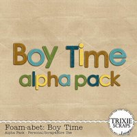 Foam-abet: Boy Time Digital Scrapbooking Alpha Kids Sports