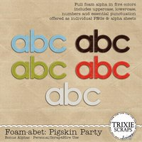 Foam-abet: Pigskin Party Digital Scrapbooking Alphas Pack