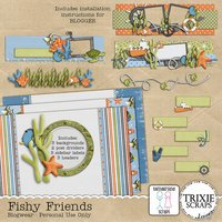 Fishy Friends Blogger Template Theme Disney Vacation