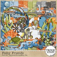 Fishy Friends Digital Scrapbooking Kit Disney Vacation