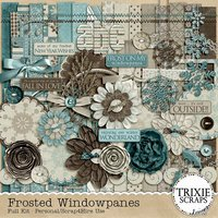 Frosted Windowpanes Digital Scrapbooking Full Kit