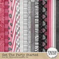 Get the Party Started Digital Scrapbooking Full Kit Birthday