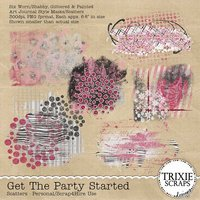 Get the Party Started Digital Scrapbooking Scatters