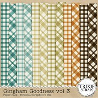 Gingham Goodness vol 3 Digital Scrapbooking Paper Pack