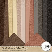 God Gave Me You Digital Scrapbooking Cardstock