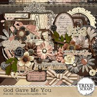 God Gave Me You Digital Scrapbooking Full Kit Friends Husband Wife