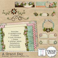 A Grand Day Digital Scrapbooking Blogwear Blogger Template