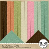 A Grand Day Digital Scrapbooking Cardstock