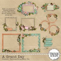 A Grand Day Digital Scrapbooking Clusters