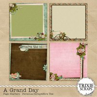 A Grand Day Digital Scrapbooking Page Starters