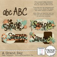 A Grand Day Digital Scrapbooking Siggy Templates