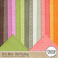 It's Her Birthday Digital Scrapbooking Cardstock