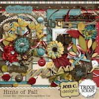Hints of Fall Digital Scrapbooking Collab Kit Autumn