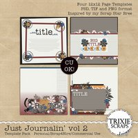 Just Journalin' Volume 2 Digital Scrapbooking Templates PSD/TIF/PAGE