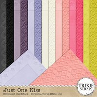 Just One Kiss Digital Scrapbooking Cardstock Disney