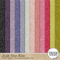 Just One Kiss Digital Scrapbooking Glitter Papers Disney