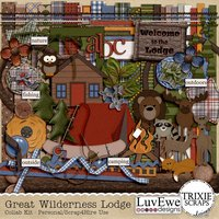 Great Wilderness Lodge Digital Scrapbooking Collab Kit Camping Outdoor