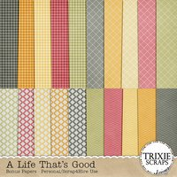 A Life That's Good Digital Scrapbooking Bonus Papers