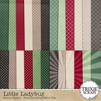 Little Ladybug Digital Scrapbooking Bonus Papers